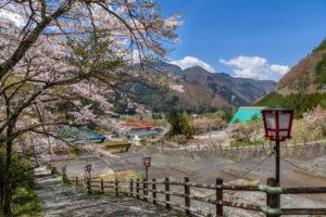 春の栃尾温泉