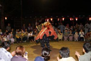 福地温泉 夏まつり(獅子舞へんべとり)