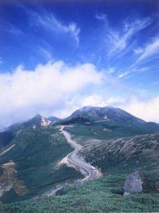 大黒岳から望む乗鞍スカイライン