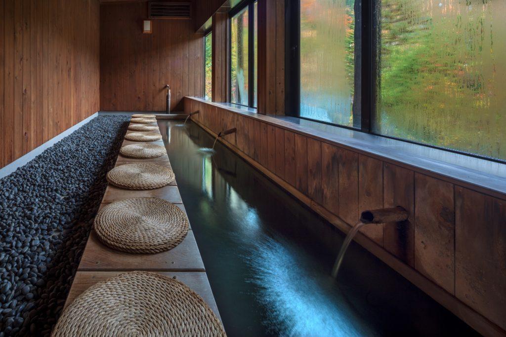 福地温泉の足湯